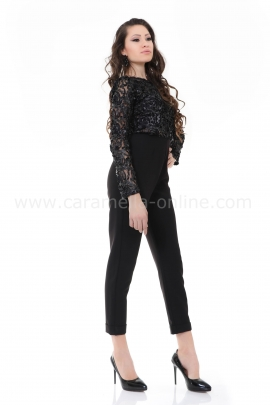 Jumpsuit Black Rose