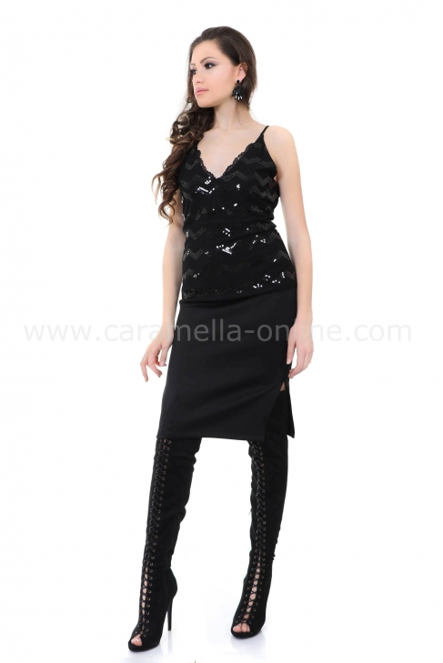 Top Black Sequins 022148