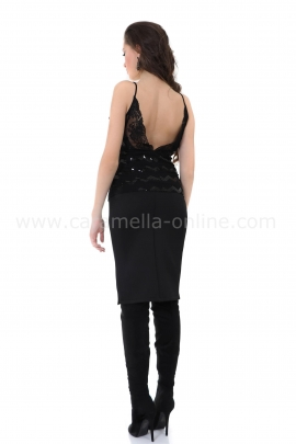 Топ Black Sequins