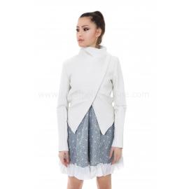 Jacket Rocked White