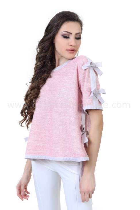 Blouse Pink Ribbons 022156