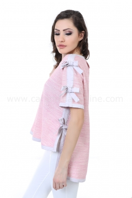 Blouse Pink Ribbons