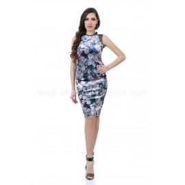 Dress Blue Rose