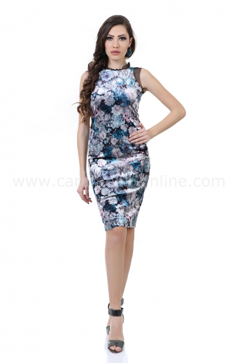 Dress Blue Rose 012229