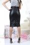 Skirt Black Leather 032036 3