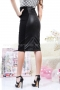 Skirt Black Leather 032036 2
