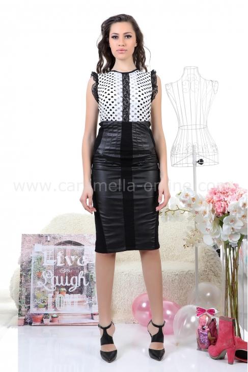 Skirt Black Leather 032036