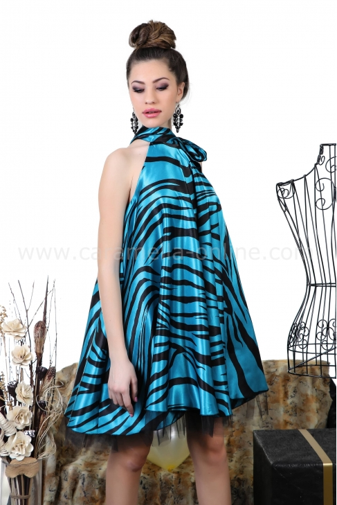 Dress Zebra Blue 012253
