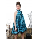 Dress Zebra Blue