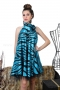 Dress Zebra Blue 012253 2