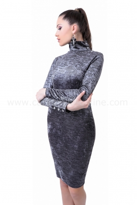 Dress Silver Gray