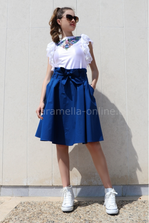 Skirt Cotton Blue 032043