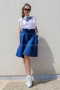 Skirt Cotton Blue 032043 3