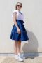 Skirt Cotton Blue 032043 4