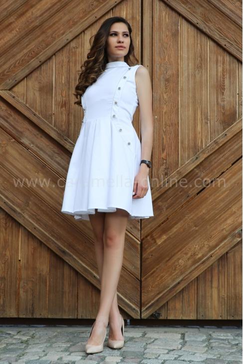 Dress Silver White 012268