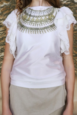 Blouse Gold jewel