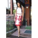 Skirt Red Flower