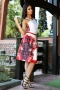 Skirt Red Flower 032054 4