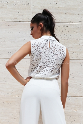 Top Cream Lace