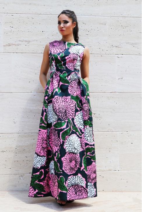 Dress Pink Flower 012278