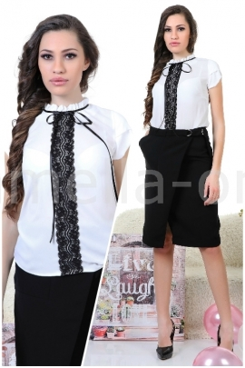 Пакет Пола Office Skirt и Топ Black Lace