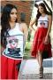 Пакет Топ Bad Girl и Пола Ross Inna Red 1