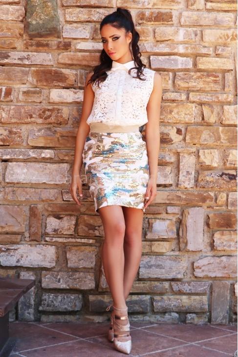 Skirt Summer Sequins 032062