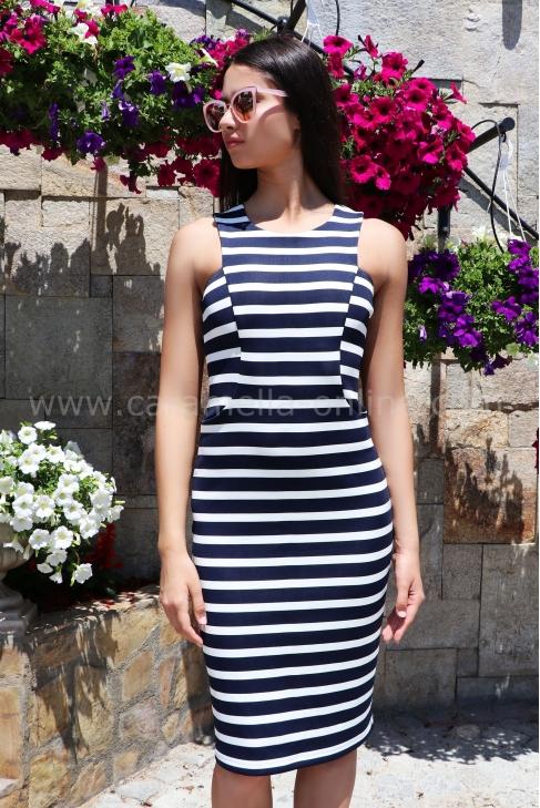 Dress White&Blue 012326