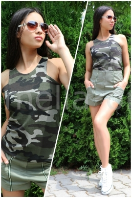 Пакет Топ Tropical Parrot и Панталон Army Green