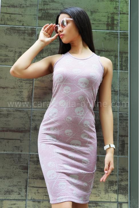 Рокля Pink Skull 012335