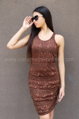 Рокля Brown Sequins