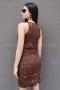 Рокля Brown Sequins 012341 2