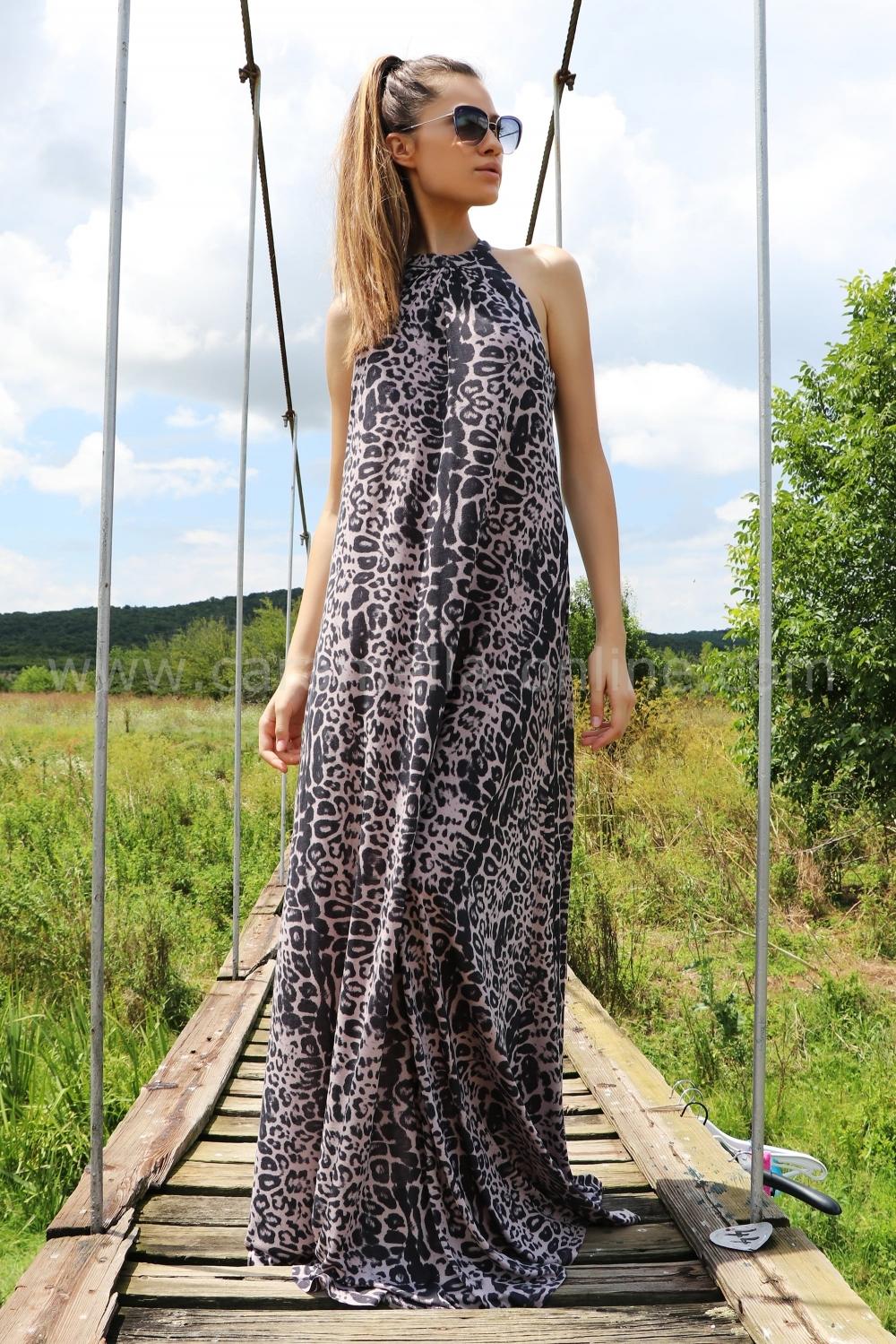 b73622ed2128 Dress Leopard Summer 012352 at the best price - Caramella Fashion