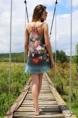 Dress-tunic Blue Flowers