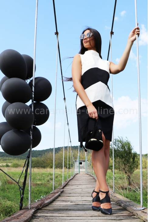 Dress Blacky White 012361