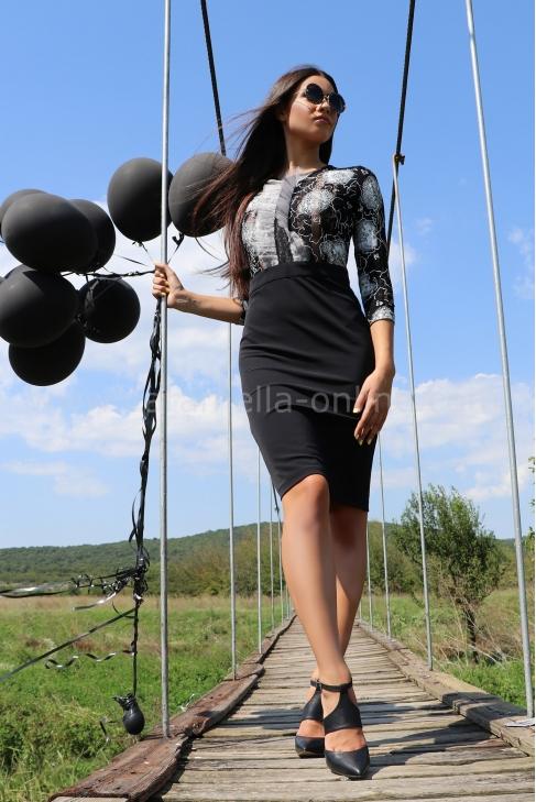Рокля Mon Cher Black 012363