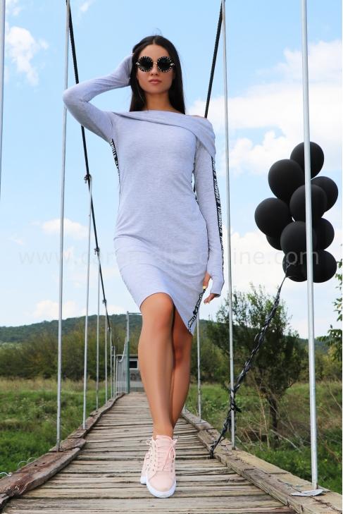 Dress Silver Gray 012365