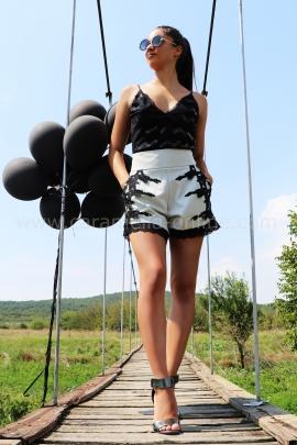 Pants Black Lace