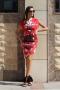 Dress Red Garden 012391 5