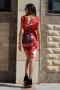 Dress Red Garden 012391 2