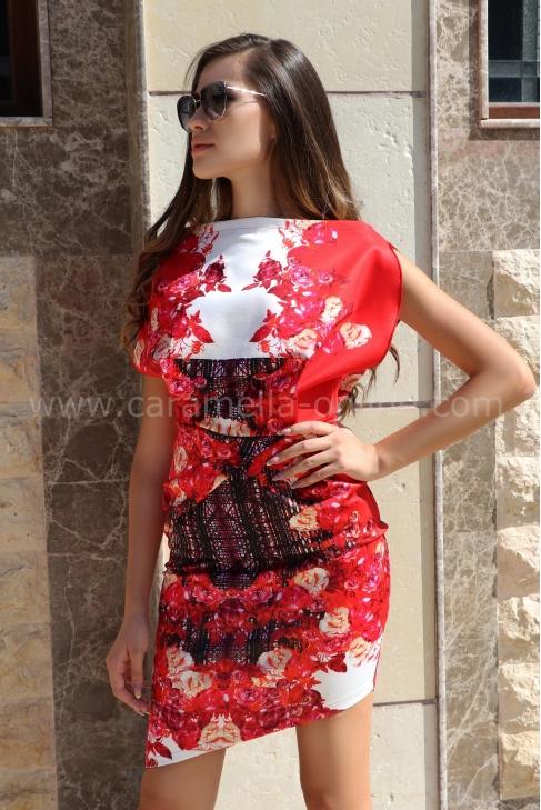 Dress Red Garden 012391