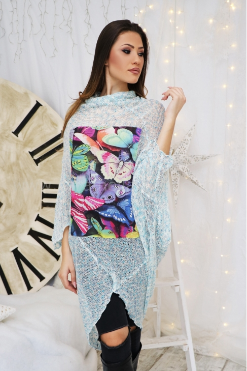 Tunic Blue Butterfly 022268