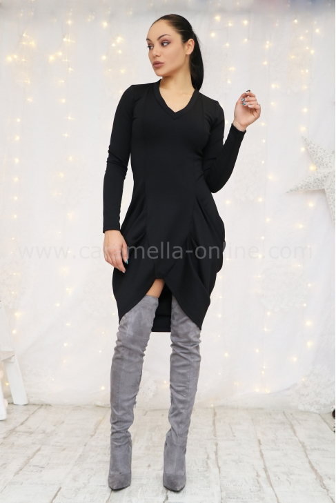 Dress Black Cotton 012397