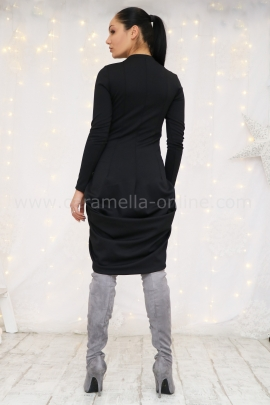 Dress Black Cotton