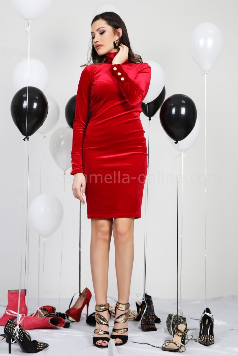 Dress Red Balmain 012411