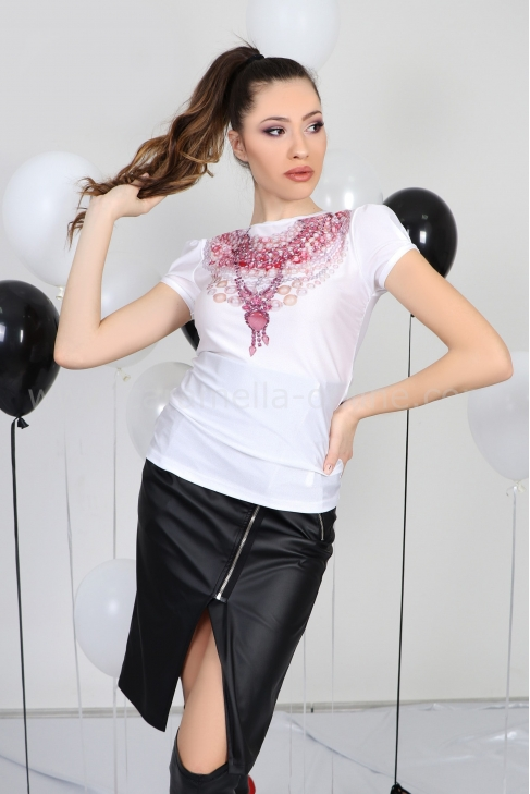 Blouse Pink Necklace 022286