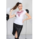 Blouse Pink Necklace