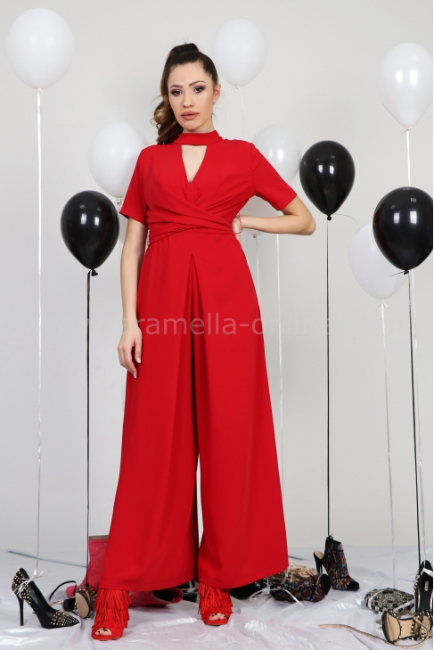 Jumpsuit In Red 042028
