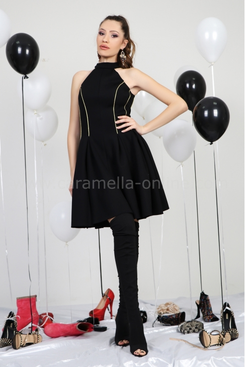 Dress Black&Gold 012415