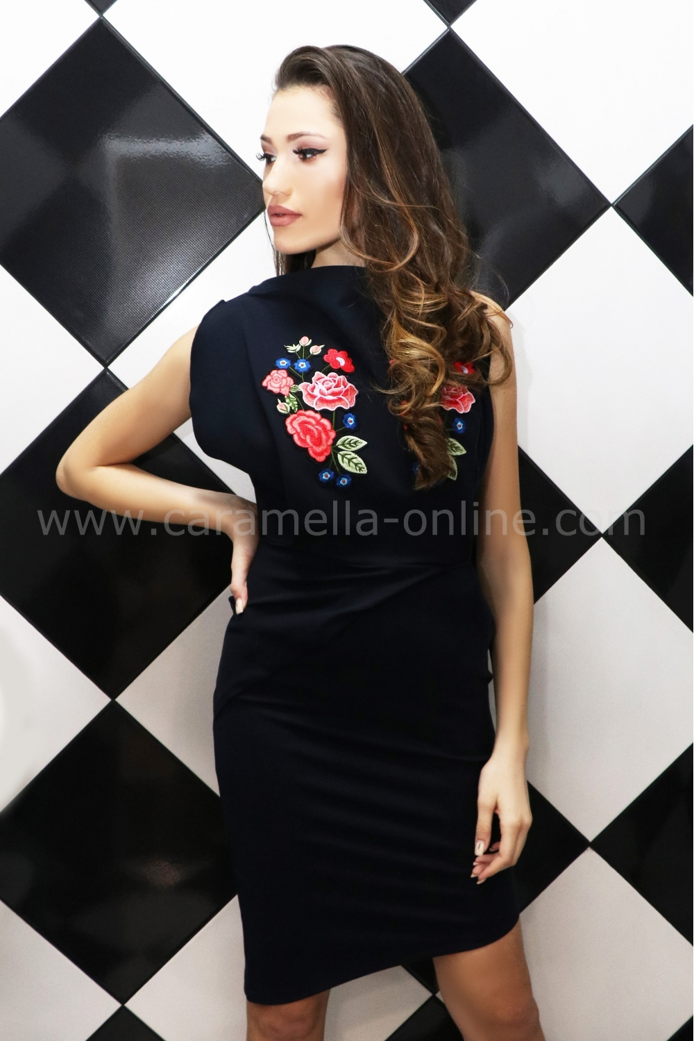 fc07bb2021b Рокля Blue Rose 012423 на топ цена — Caramella Fashion